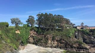 Panorama-Rückblick nach Ribadeo
