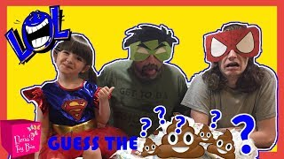 Guess the SURPRISE Candy Bar Poop CHALLENGE Blindfolded Daddy vs Brother HILARIOUS FUNNY