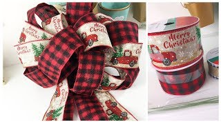BEST WAY EVER! HOW TO MAKE A BOW    ~ For Wreaths, Swags, Christmas Tree, Weddings & More