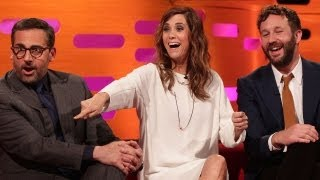 STEVE CARELL, KRISTEN WIIG & CHRIS O'DOWD Kill & Eat a Fly?! The Graham Norton Show on BBC AMERICA