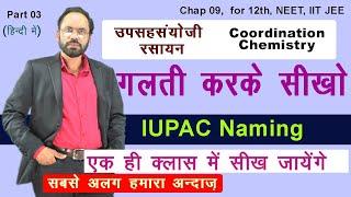 03   IUPAC Naming || Chap 09 Coordination Chemistry| Hindi | 12th , IIT JEE, NEET