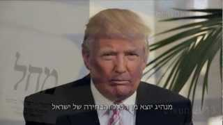 Donald Trump Endorsement for Prime Minister Netanyahu