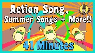 Action Song, Summer Songs + more   Kids Song Compilation   The Singing Walrus