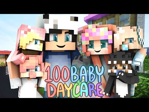 THE KIDS BUILD TINY HOUSES! | 100 Baby Daycare | (Minecraft Daycare Roleplay)