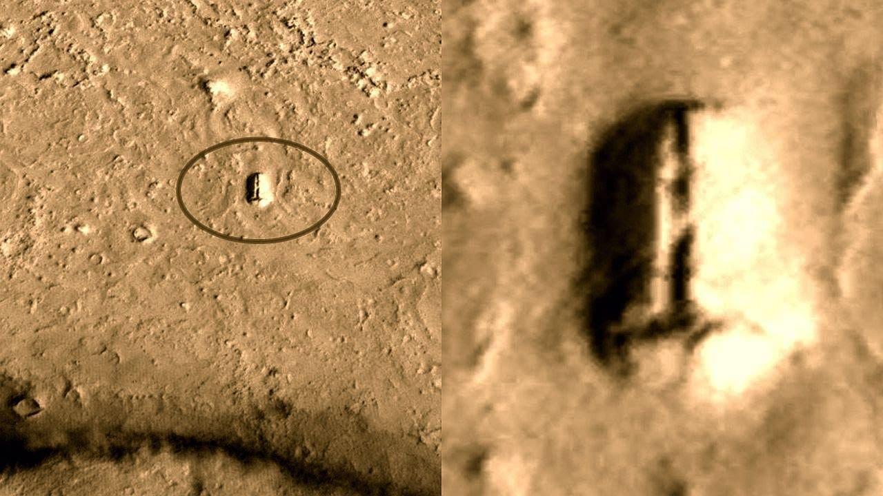 ¿Puerta de entrada a la base subterránea en Marte?