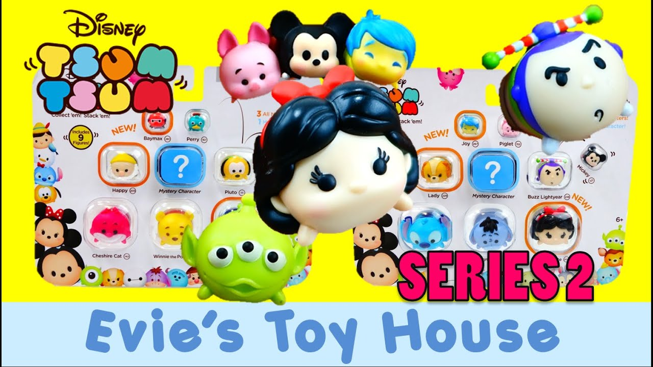Disney Tsum Tsum Vinyl Figures SERIES 2 - 9 packs with Surprise Blind Bag | Evies Toy House