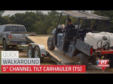 2021 PJ Trailers 5 in. Channel Tilt Carhauler (T5) 22 ft. in Kansas City, Kansas - Video 1