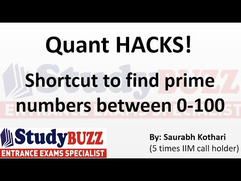 Quant HACKS- Trick to find prime numbers between 0-100
