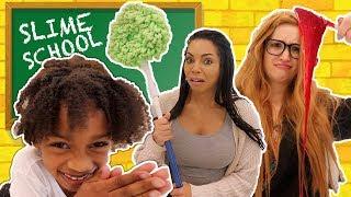 New SLime Class Teacher vs Old Slime Teacher at Slime School - New Toy School