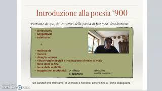Introduzione alla poesia del '900
