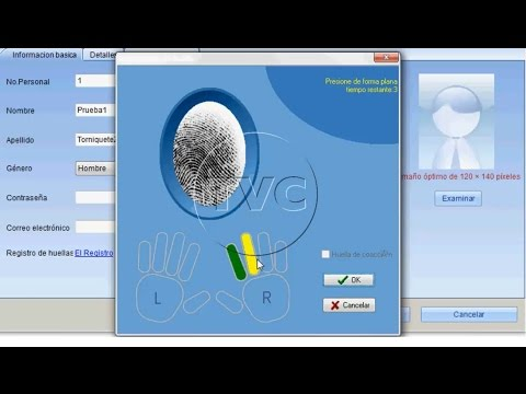 CAPTURA DE HUELLAS EN SOFTWARE ZKACCESS 3