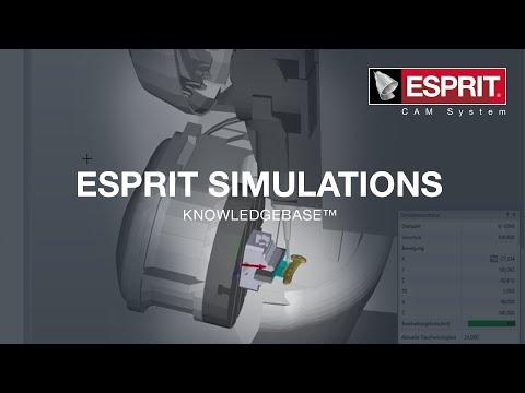 Automatisieren Sie die Maschinenprogrammierung mit der ESPRIT Knowledgebase™