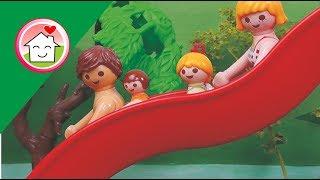 الزحليقة الشلال في حديقة الألعاب المائية -  عائلة عمر - أفلام بلاي