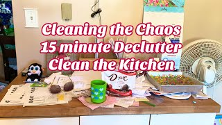 Hoarders ❤️ Kitchen 15 Minute Declutter Flylady Cleaning Method! Clean The Chaos With Me!