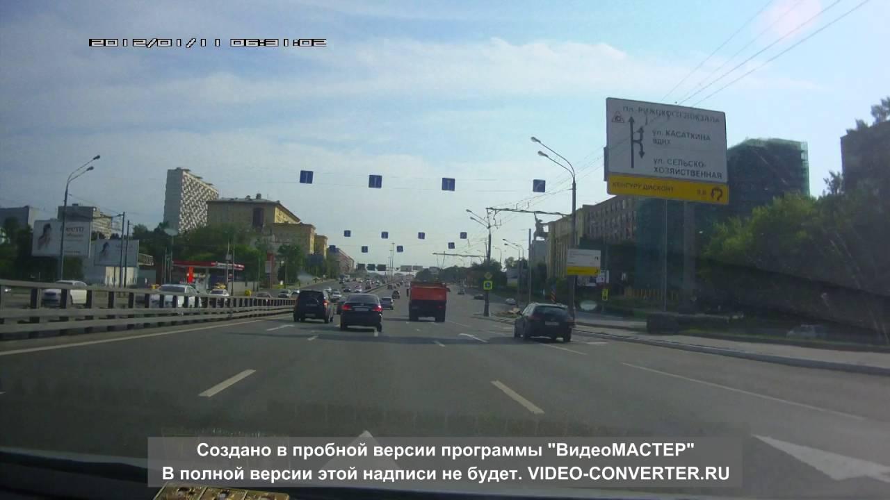 Не проскочил на повороте... ДТП в Москве на ВДНХ