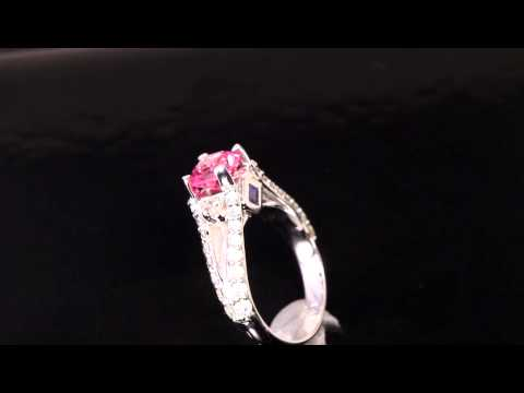 Christopher Michael Designed Ring with Sapphire and Diamond
