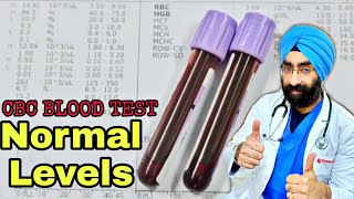 Normal levels - CBC, TLC, Hemoglobin, RBC, MCV, MCH, MCHC, Platelet counts | Dr.Education (Hindi)