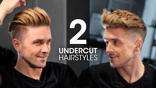 2 QUICK & EASY Undercut Hairstyles For Men | Men's Hair Tutorial