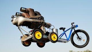 400 лошадей !!! Велосипед с движком от ВЕРТОЛЕТА