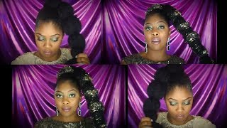 Bubble Ponytail w/ Glitter | Short Natural Hair | TWA