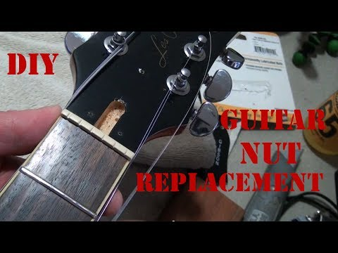 DIY How to Replace a Guitar Nut - How to Install a Graphtech Tusq XL Nut On an Epiphone Les Paul