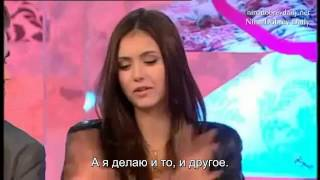 Иэн Сомерхолдер, The Vampire Diaries Interview with cast Ian Paul and Nina Part 1 (rus sub)