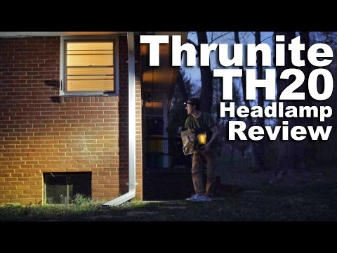 Thrunite TH20 Headlamp Review.  Great budget AA headlamp under $30.