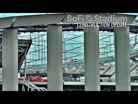 LA Rams Chargers Sofi Stadium Construction Update 12.7.19