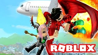 OUR PLANE CAUGHT ON FIRE AND WE GOT LOST! | Roblox Roleplay