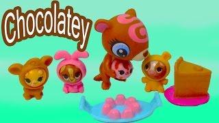 LPS Littlest Pet Shop Chocolatey Delight Playset Rolleroos Chocolate Cake Candy Cookieswirlc