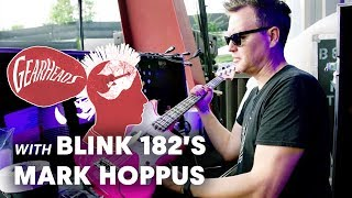 Blink182s <b>Mark Hoppus</b> Shows Off The Basses He Tours With  Gearheads