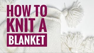 How to knit a blanket - Part 1//Knitting machine tutorial