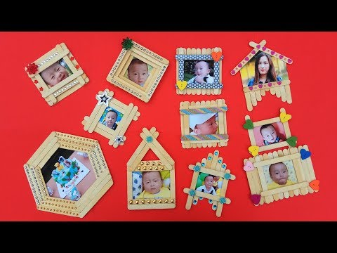 Top 10 Diy Popsicle Stick Photo Frame Compilation Popsicle Stick