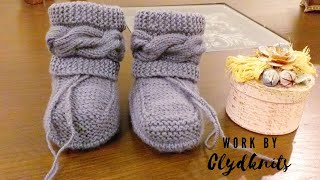 Baby Boots , Cabled Boots , How To Knit Braided Boots | 0 To 1 Year | KNITTING TUTORIAL | BABY Uggs