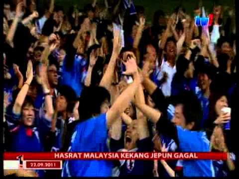 Video Keputusan Bolasepak  KelayakanOlimpik 2012 Japan VS Malaysia 2-0