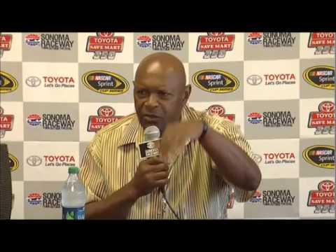 Vida Blue Grand Marshall Toyota/Saave Mart 350 Interview NASCAR Video