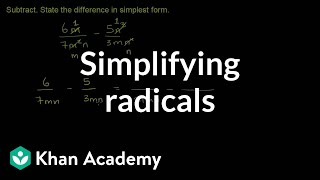 Simplifying First for Subtracting Rational Expressions