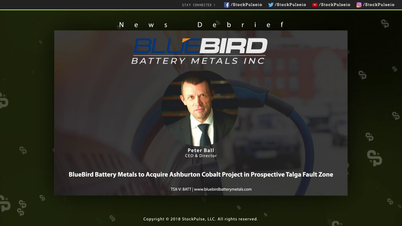 BlueBird Battery Metals to Acquire Ashburton Cobalt Project in Prospective Talga Fault Zone