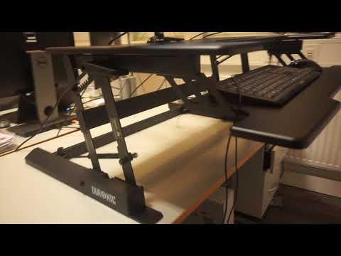 Duronic DM05D1 Stehpult - Workstation Sit & Stand für den Schreibtisch