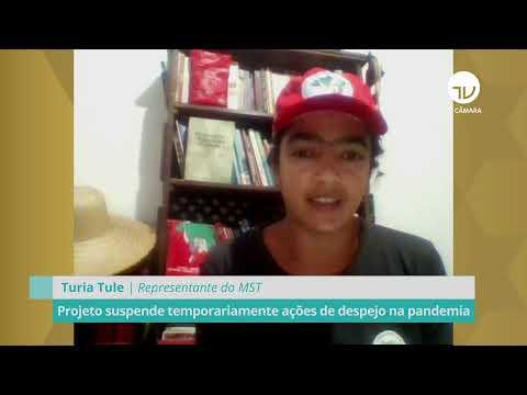 Projeto suspende temporariamente ações de despejo na pandemia - 12/05/21