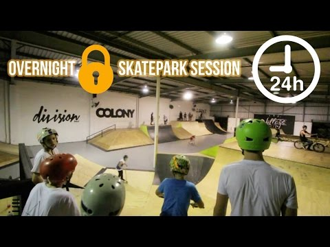 24 HOUR SKATEPARK LOCK-IN!!