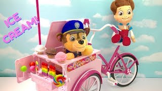 Learn Colors with Paw Patrol Ice Cream Truck Bike Bicycle Lollipops | Fizzy Fun Toys
