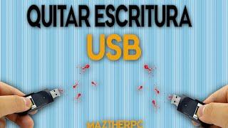 Cómo Quitar La Protección Contra Escritura USB