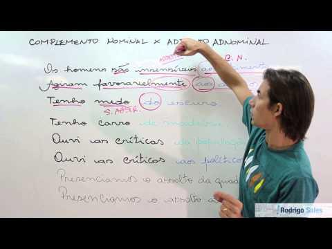 Download COMPLEMENTO NOMINAL X ADJUNTO ADNOMINAL HD Video