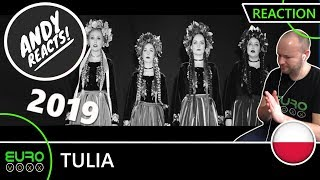 POLAND EUROVISION 2019 REACTION: Tulia - Fire of Love (Pali się) | ANDY REACTS!
