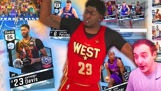 NBA 2K17 My Team DIAMOND MOMENTS ANTHONY DAVIS! THIS LINEUP IS UNSTOPPABLE!