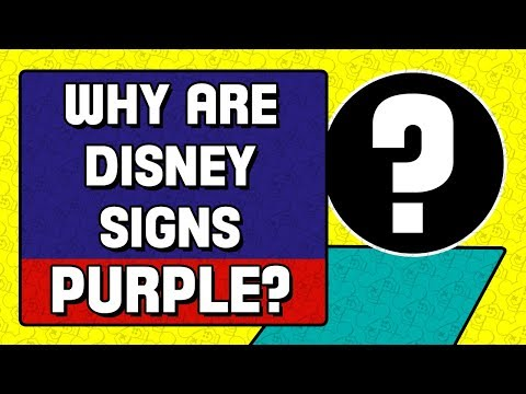 Why Are Disney Traffic Signs Purple?