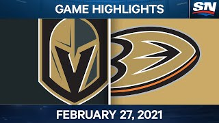 NHL Game Highlights | Golden Knights vs. Ducks - Feb. 27, 2021 by Sportsnet Canada