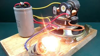 How to make free energy with speaker magnet & motor - New Technology at Home
