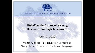 High Quality Distance Learning Resources For English Learners